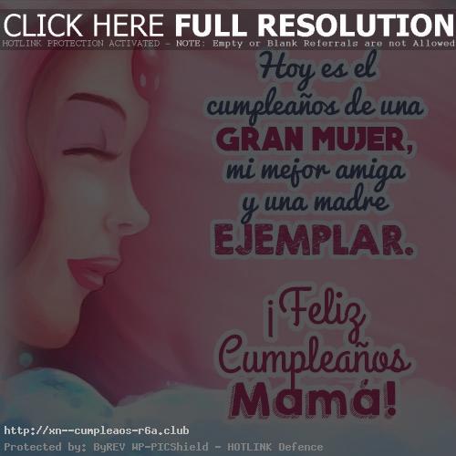 Palabras en fotos de cumpleaños para una madre